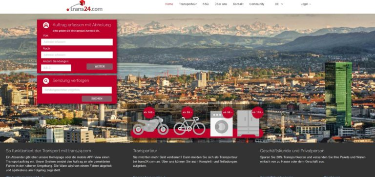trans24.com – die digitale Transportplattform
