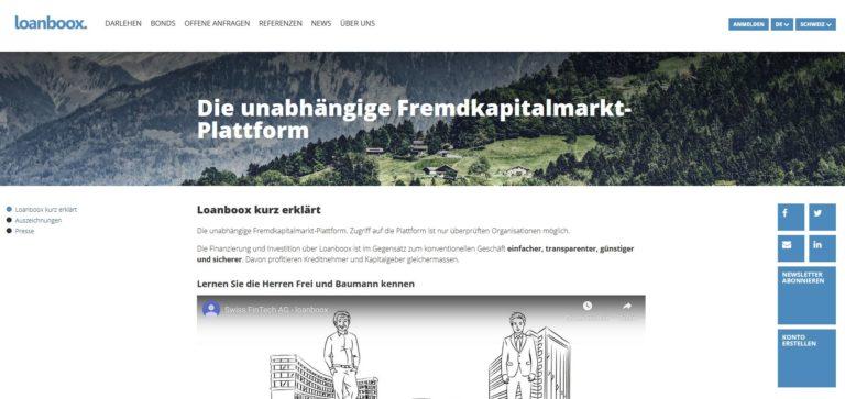 Loanboox – die unabhängige Fremdkapitalmarkt-Plattform