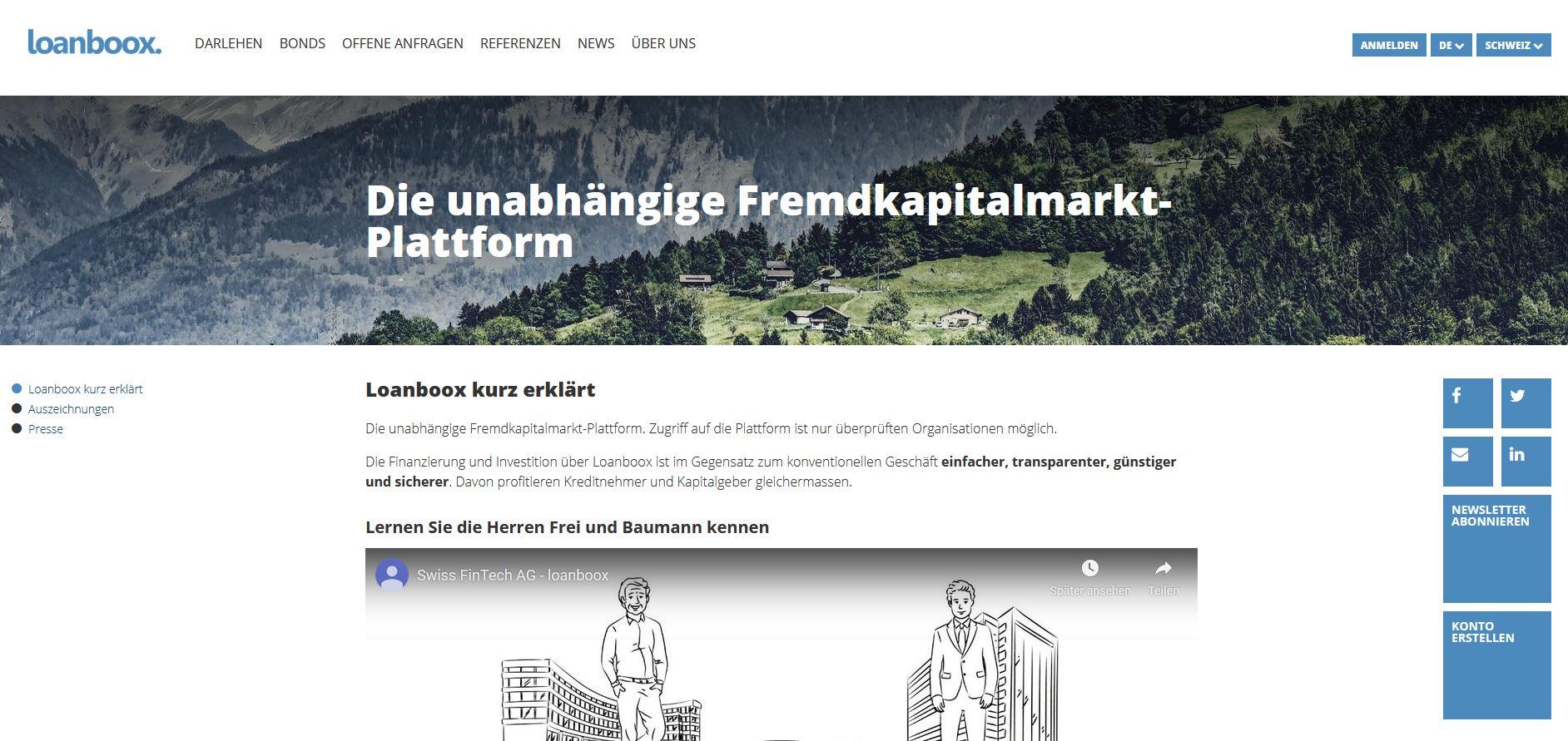 Loanboox - Startups rund um den Bodensee